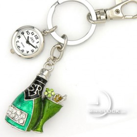 KEY CHAIN, Novelty Champagne Bottle w/cup